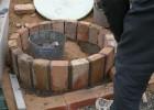 円形花壇 アンティークレンガ